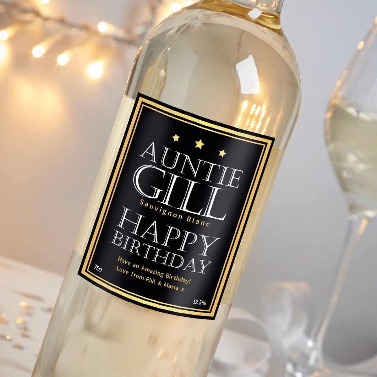 Aunties Birthday White Wine